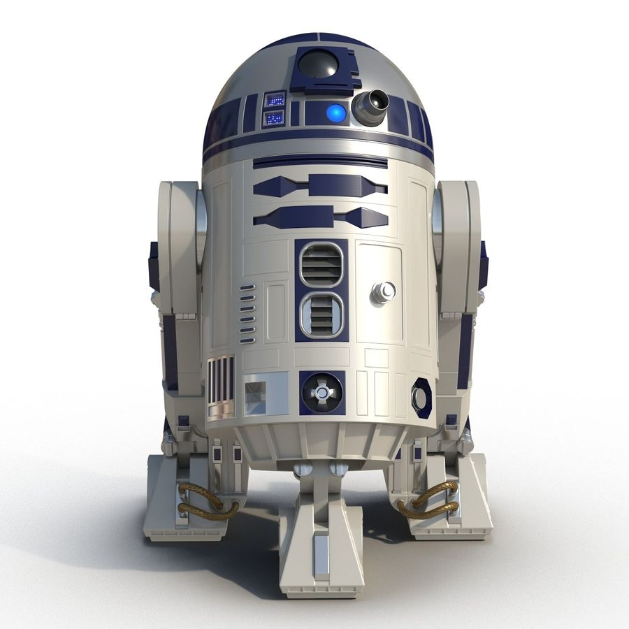 Star Wars Character R2 D2 3D Model royalty-free 3d model - Preview no. 3