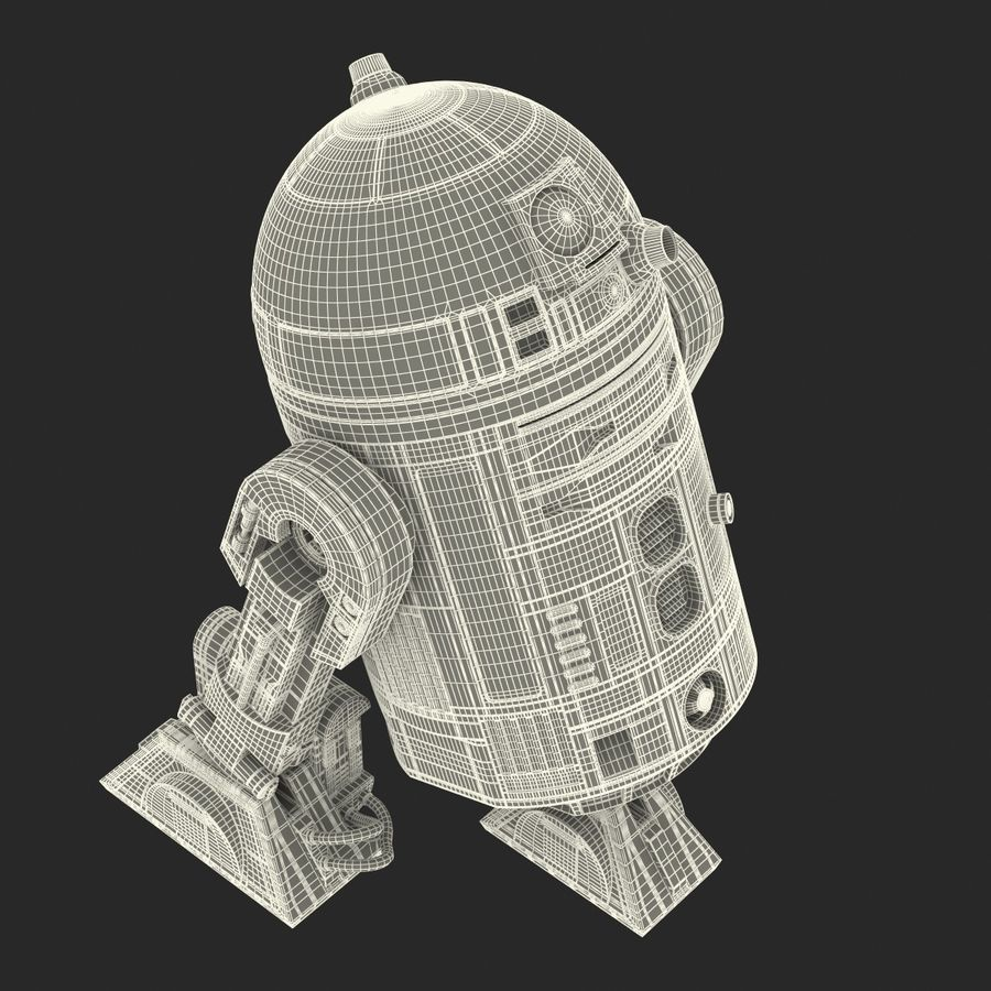 Star Wars Character R2 D2 3D Model royalty-free 3d model - Preview no. 35