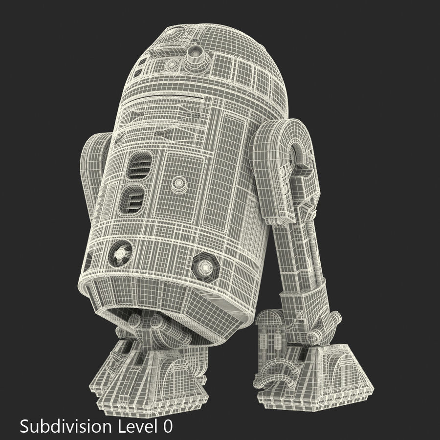 Star Wars Character R2 D2 3D Model royalty-free 3d model - Preview no. 24