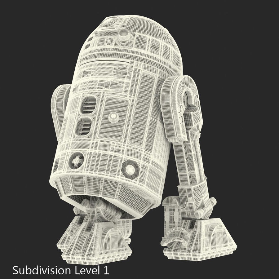 Star Wars Character R2 D2 3D Model royalty-free 3d model - Preview no. 25