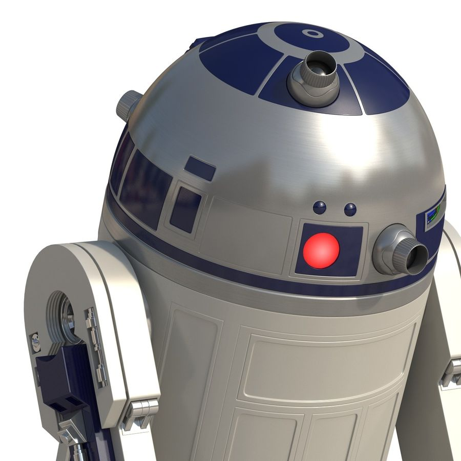 Star Wars Character R2 D2 3D Model royalty-free 3d model - Preview no. 20