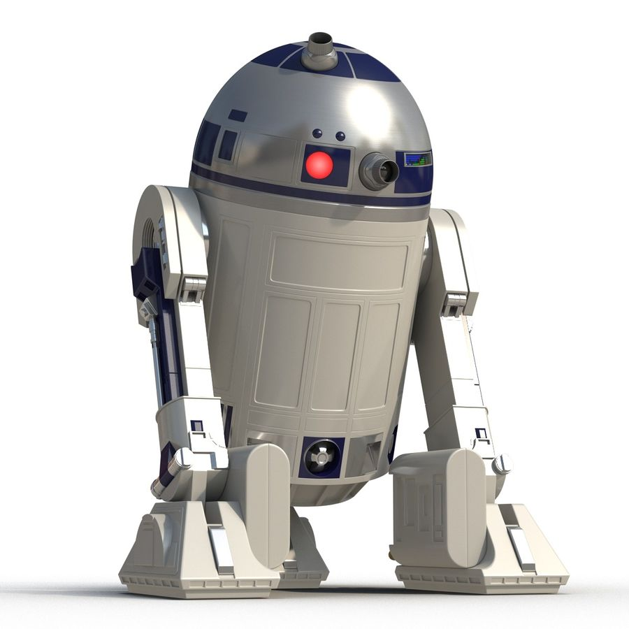 Star Wars Character R2 D2 3D Model royalty-free 3d model - Preview no. 11