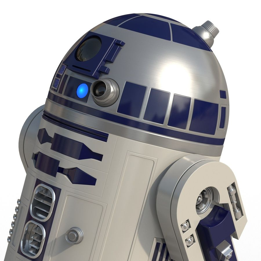 Star Wars Character R2 D2 3D Model royalty-free 3d model - Preview no. 19