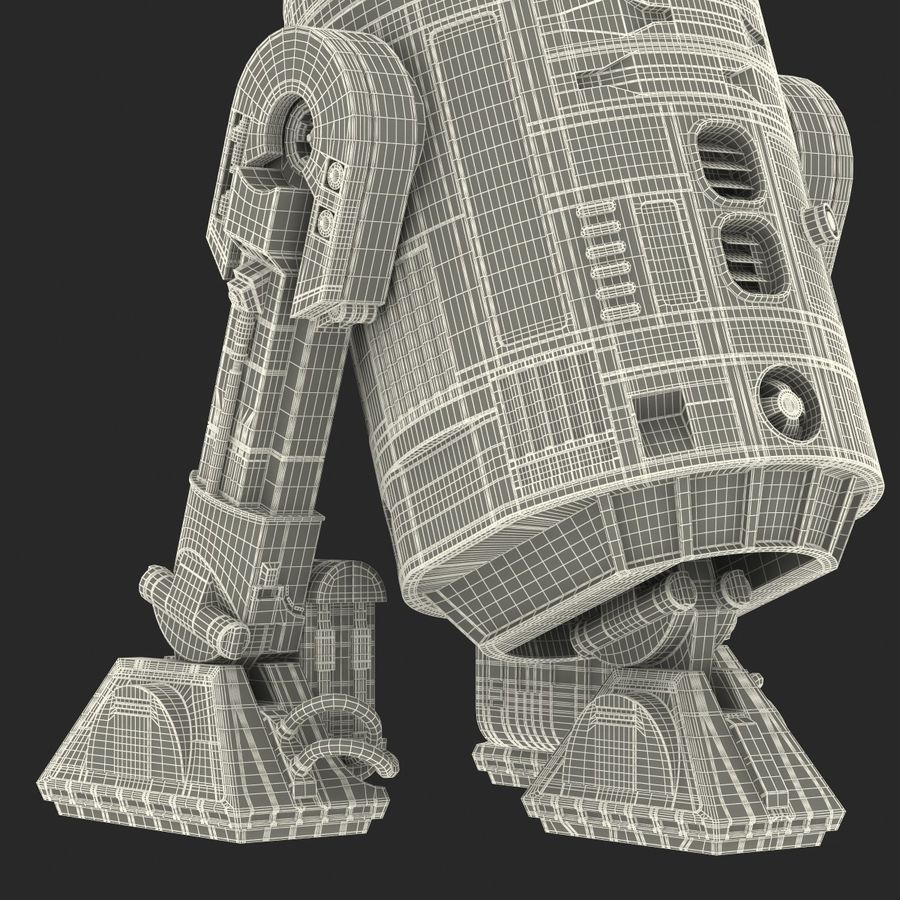 Star Wars Character R2 D2 3D Model royalty-free 3d model - Preview no. 39