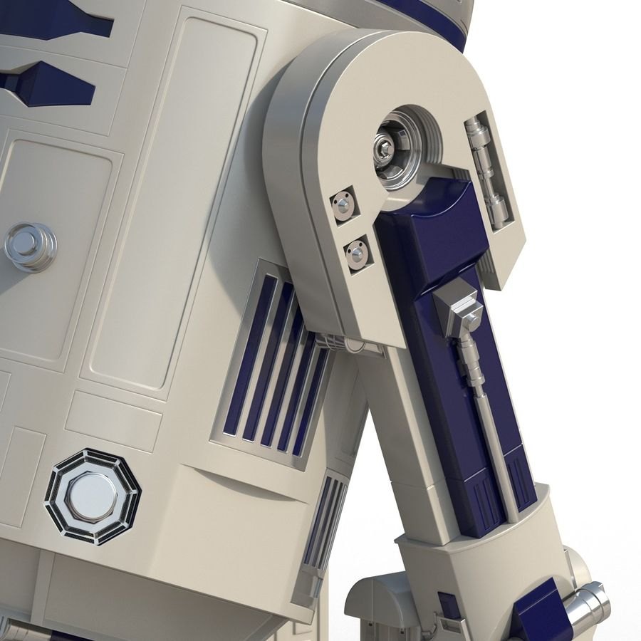 Star Wars Character R2 D2 3D Model royalty-free 3d model - Preview no. 22