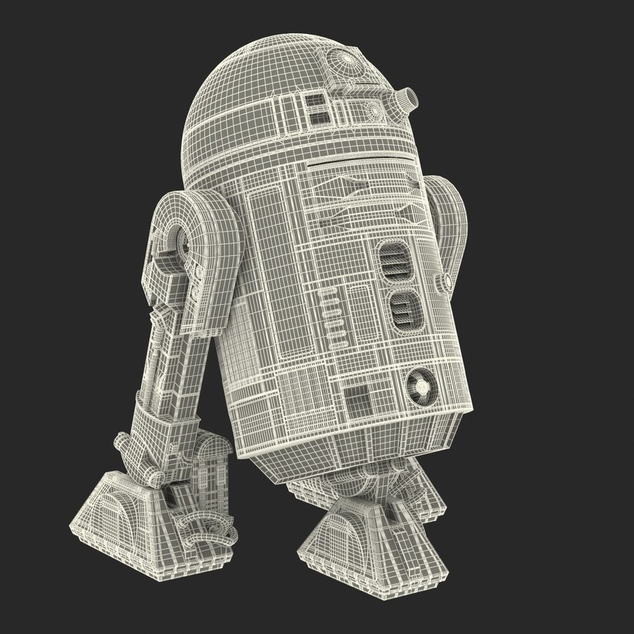 Star Wars Character R2 D2 3D Model royalty-free 3d model - Preview no. 32