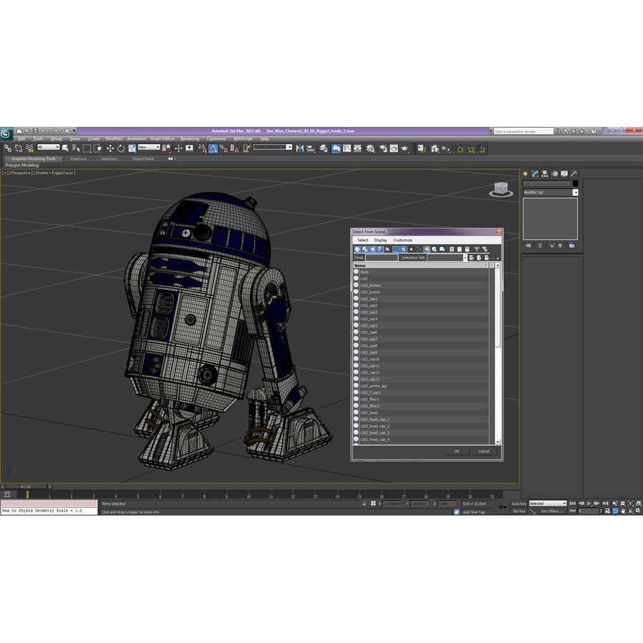 Star Wars Character R2 D2 3D Model royalty-free 3d model - Preview no. 31