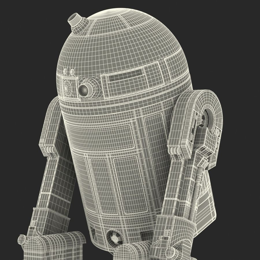 Star Wars Character R2 D2 3D Model royalty-free 3d model - Preview no. 38