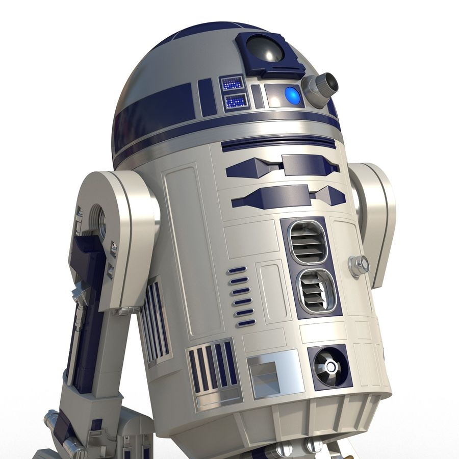 Star Wars Character R2 D2 3D Model royalty-free 3d model - Preview no. 14