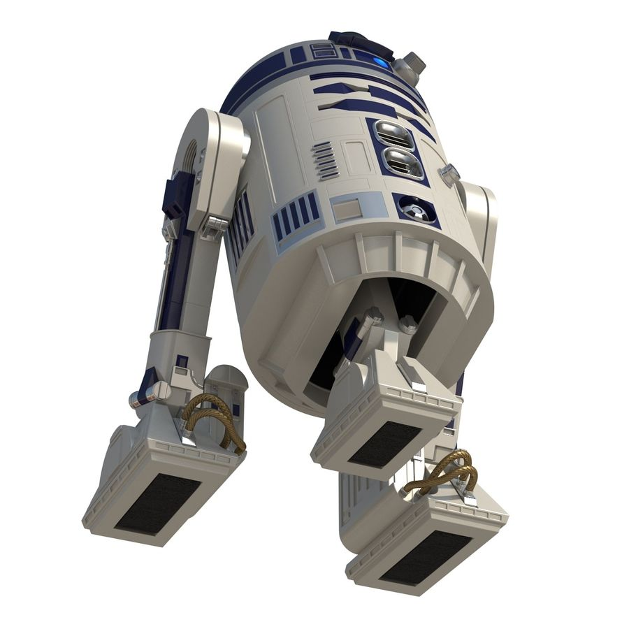Star Wars Character R2 D2 3D Model royalty-free 3d model - Preview no. 12