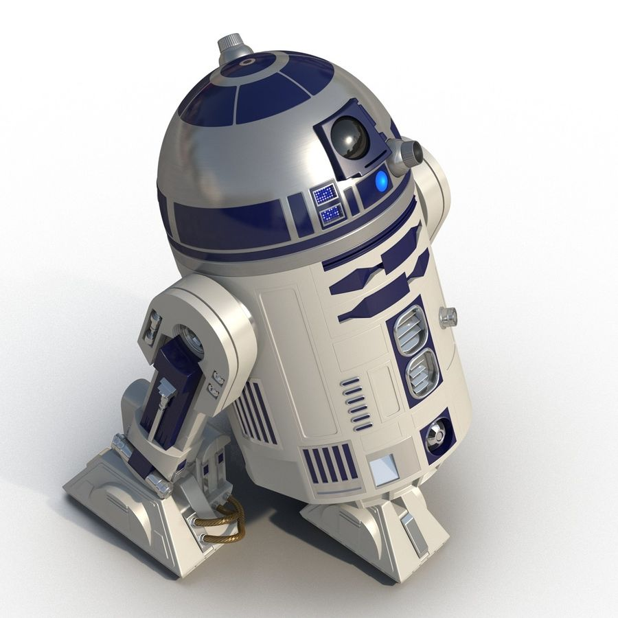 Star Wars Character R2 D2 3D Model royalty-free 3d model - Preview no. 9