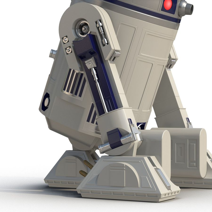 Star Wars Character R2 D2 3D Model royalty-free 3d model - Preview no. 18
