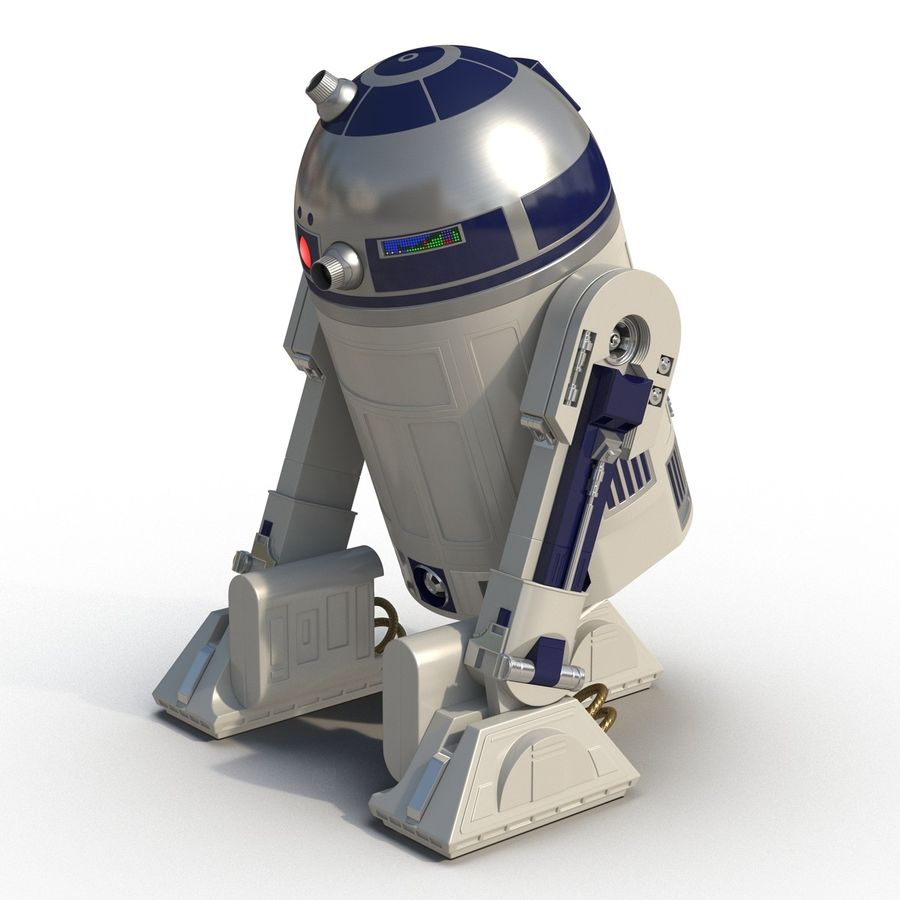 Star Wars Character R2 D2 3D Model royalty-free 3d model - Preview no. 6