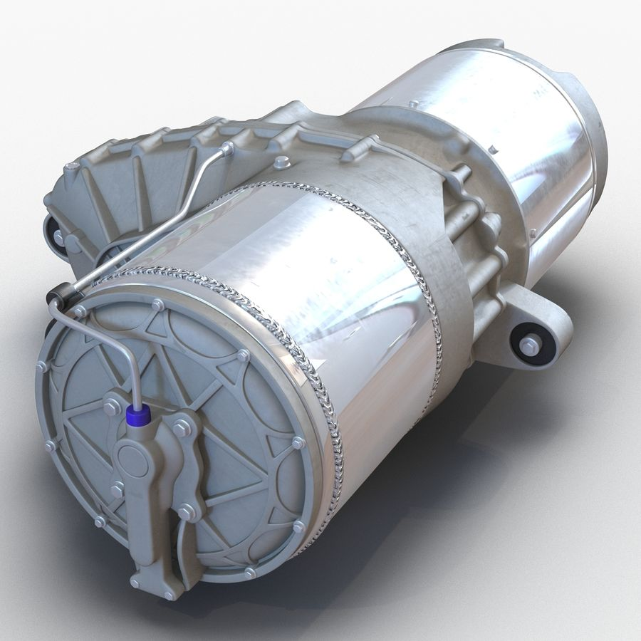 Tesla Electric Motor royalty-free 3d model - Preview no. 7