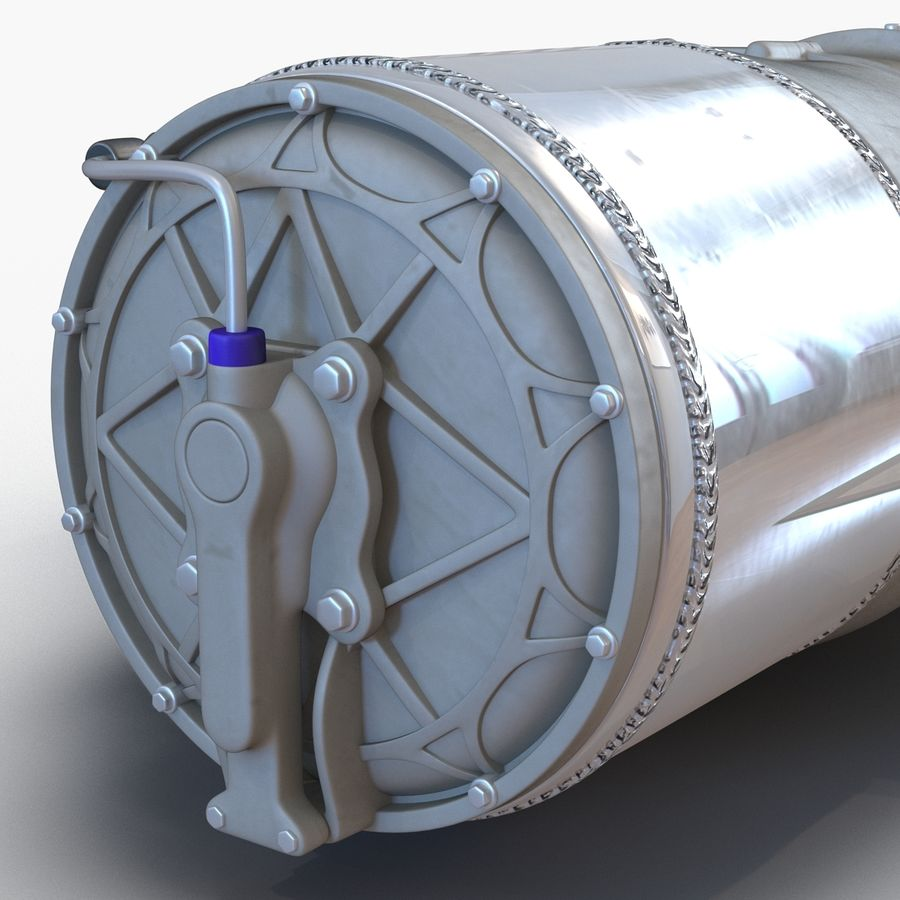 Tesla Electric Motor royalty-free 3d model - Preview no. 15