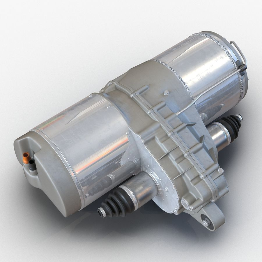 Tesla Electric Motor royalty-free 3d model - Preview no. 8
