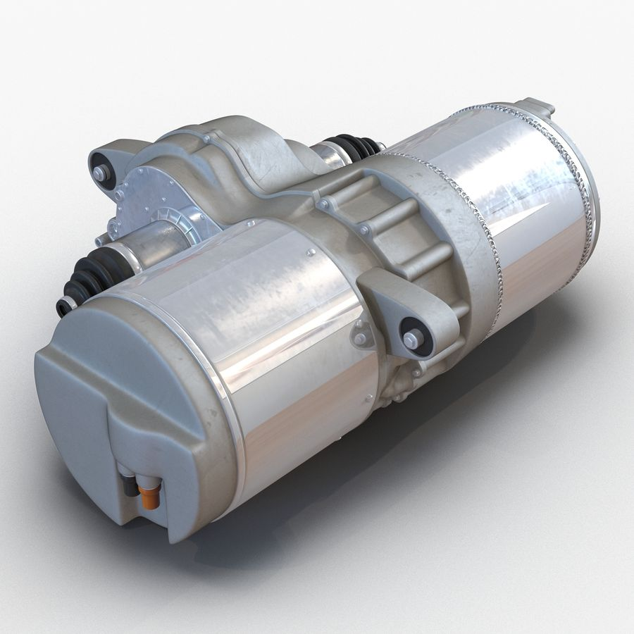 Tesla Electric Motor royalty-free 3d model - Preview no. 4