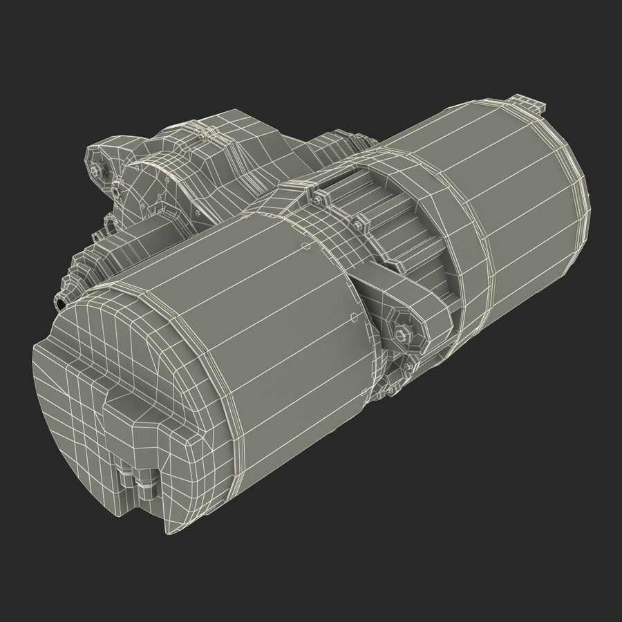 Tesla Electric Motor royalty-free 3d model - Preview no. 27