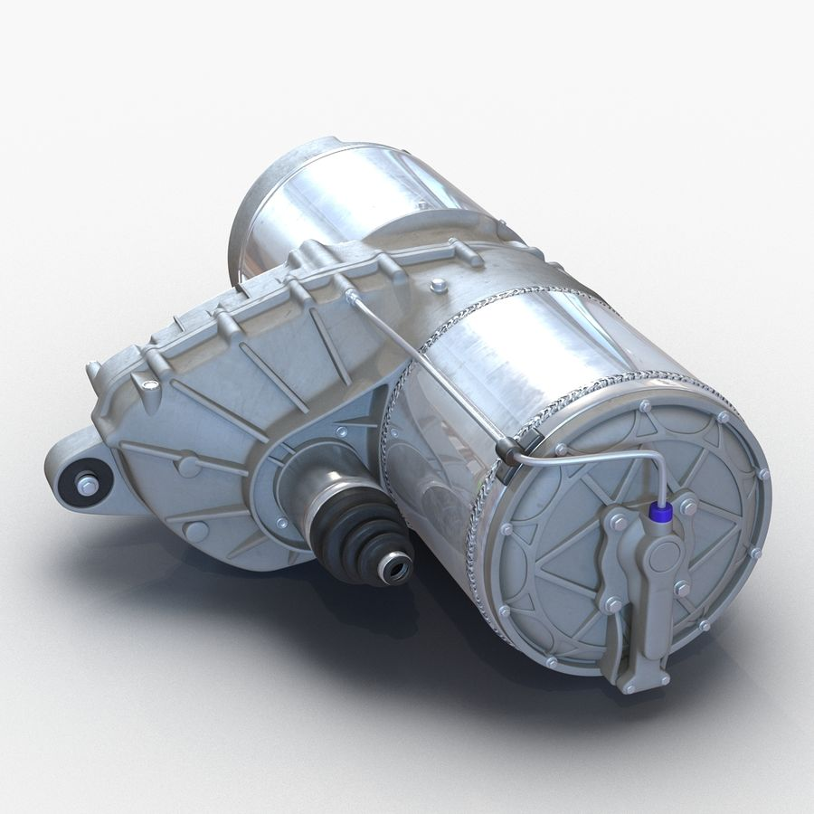 Tesla Electric Motor royalty-free 3d model - Preview no. 6