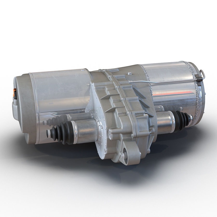 Tesla Electric Motor royalty-free 3d model - Preview no. 2