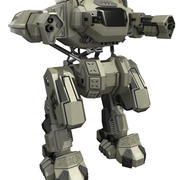 Battle mech Rebel 3d model