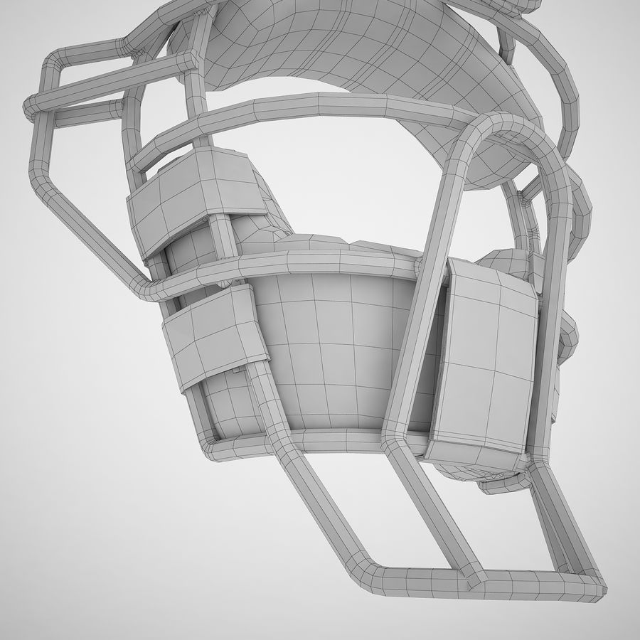 Catchers Face Mask 04 royalty-free 3d model - Preview no. 18