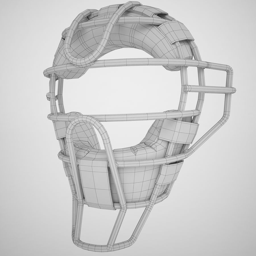 Catchers Face Mask 04 royalty-free 3d model - Preview no. 4