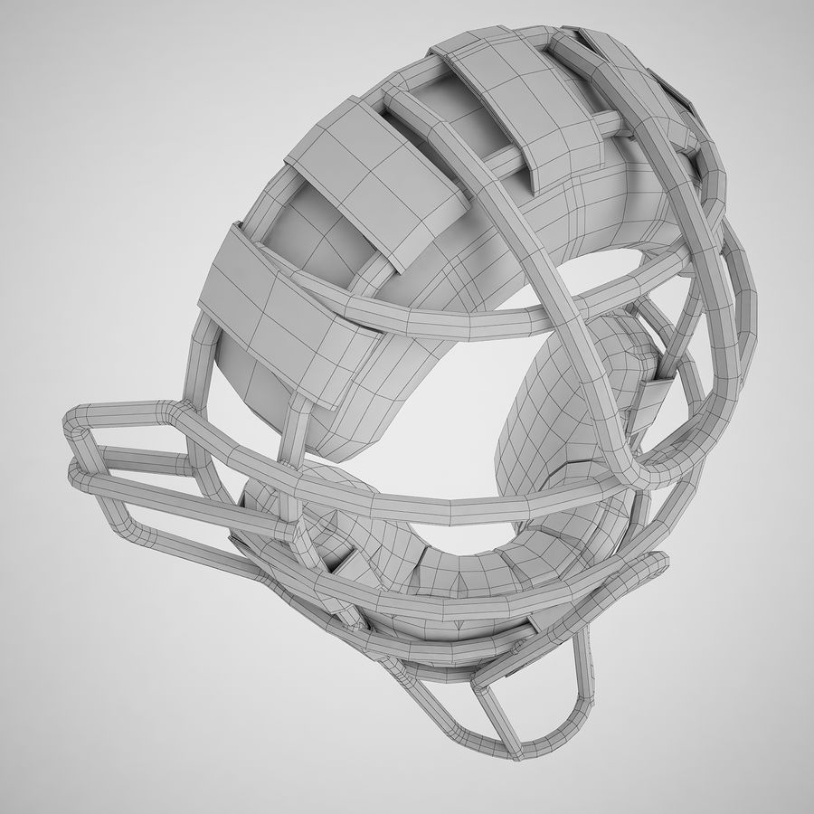 Catchers Face Mask 04 royalty-free 3d model - Preview no. 8