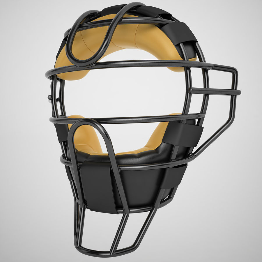 Catchers Face Mask 04 royalty-free 3d model - Preview no. 2