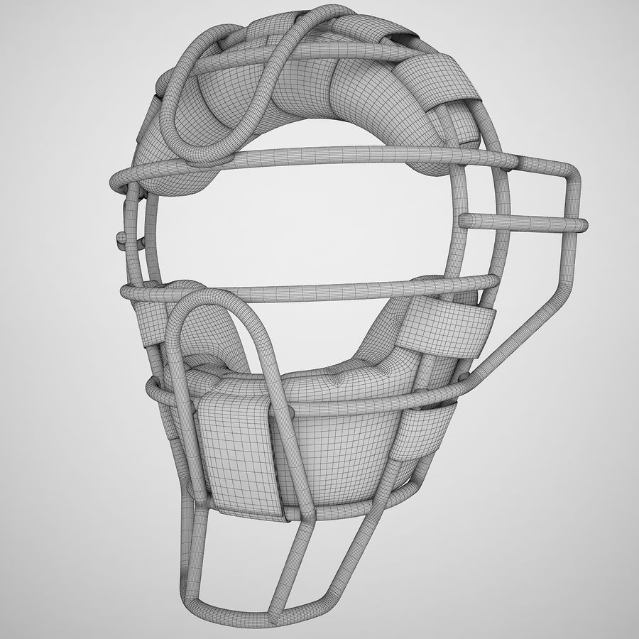 Catchers Face Mask 04 royalty-free 3d model - Preview no. 3