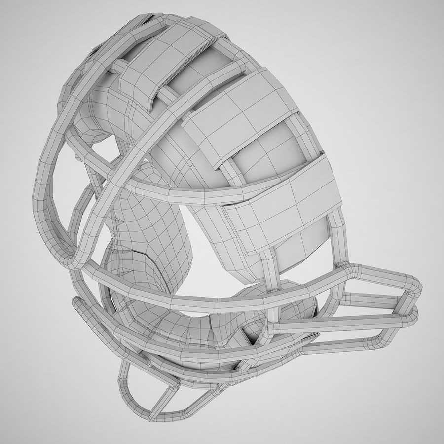 Catchers Face Mask 04 royalty-free 3d model - Preview no. 10