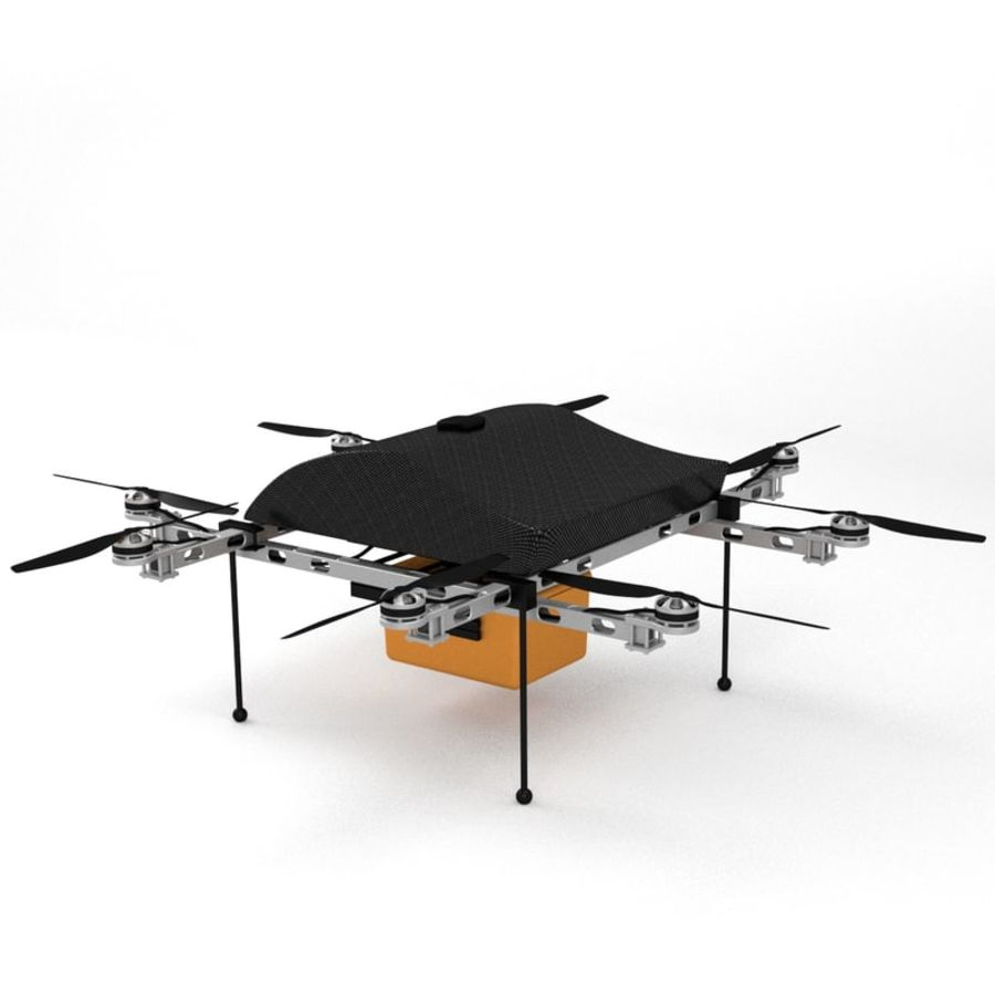 Delivery Drone royalty-free 3d model - Preview no. 4
