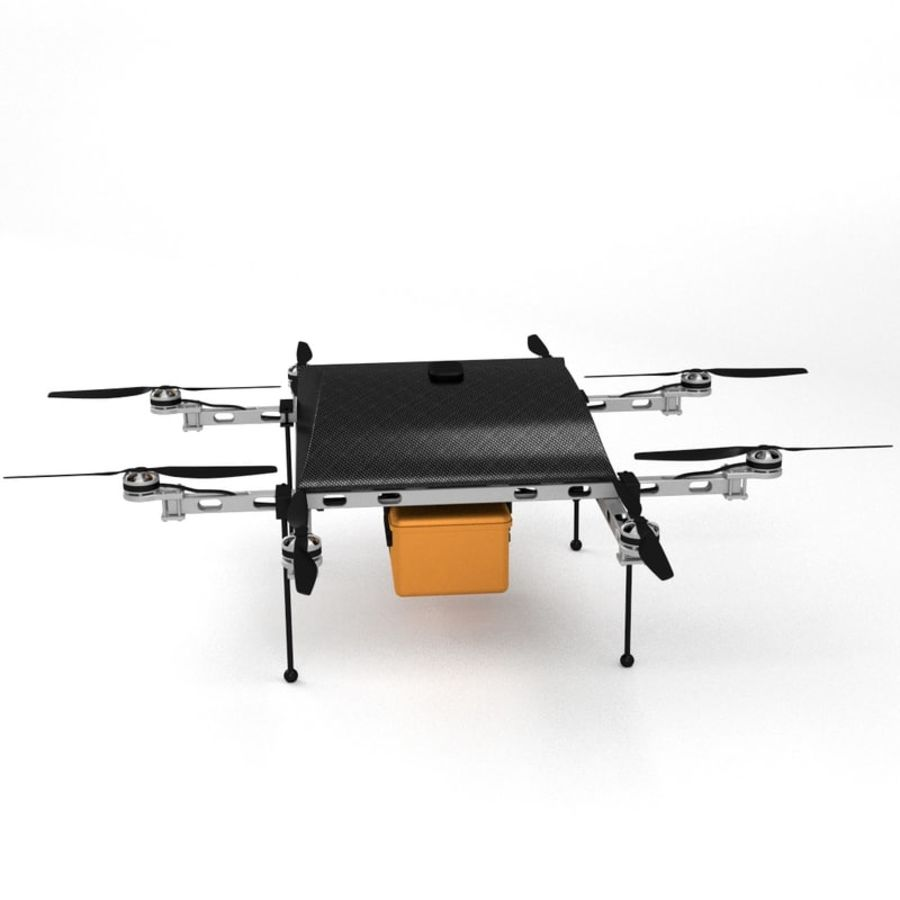 Delivery Drone royalty-free 3d model - Preview no. 2