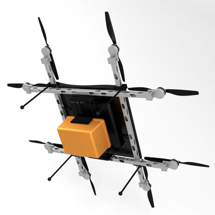 Delivery Drone royalty-free 3d model - Preview no. 8