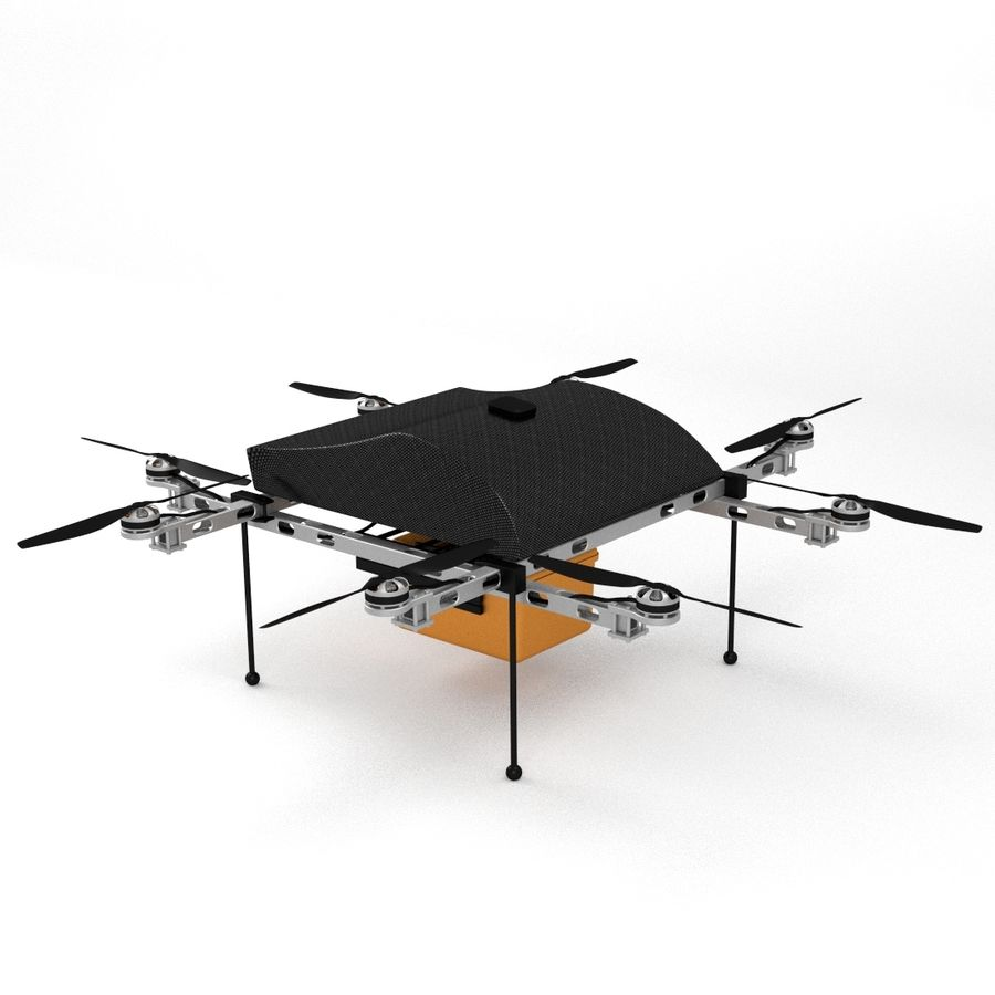 Delivery Drone royalty-free 3d model - Preview no. 1