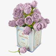 Blumenstrauß aus Rosen in Zinn 3d model