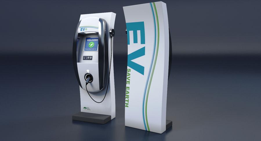 Carregador de Veículo Elétrico royalty-free 3d model - Preview no. 7