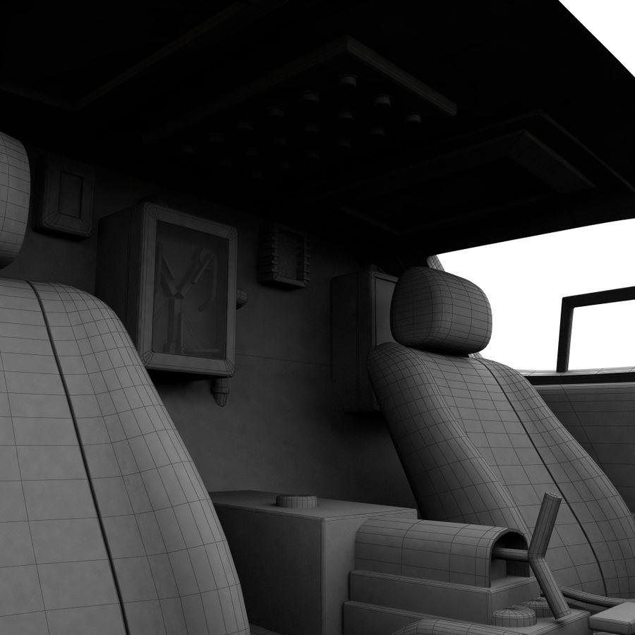 Delorean Time Machine royalty-free 3d model - Preview no. 10