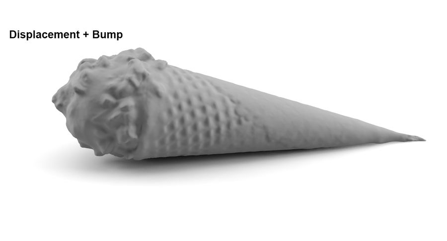 Ice Cream Cones royalty-free 3d model - Preview no. 9