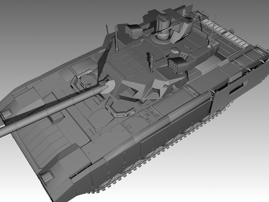 T-14 ARMATA royalty-free 3d model - Preview no. 7