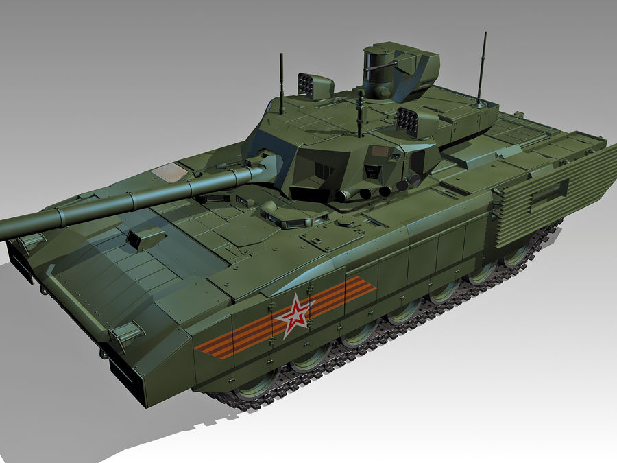 T-14 ARMATA royalty-free 3d model - Preview no. 1