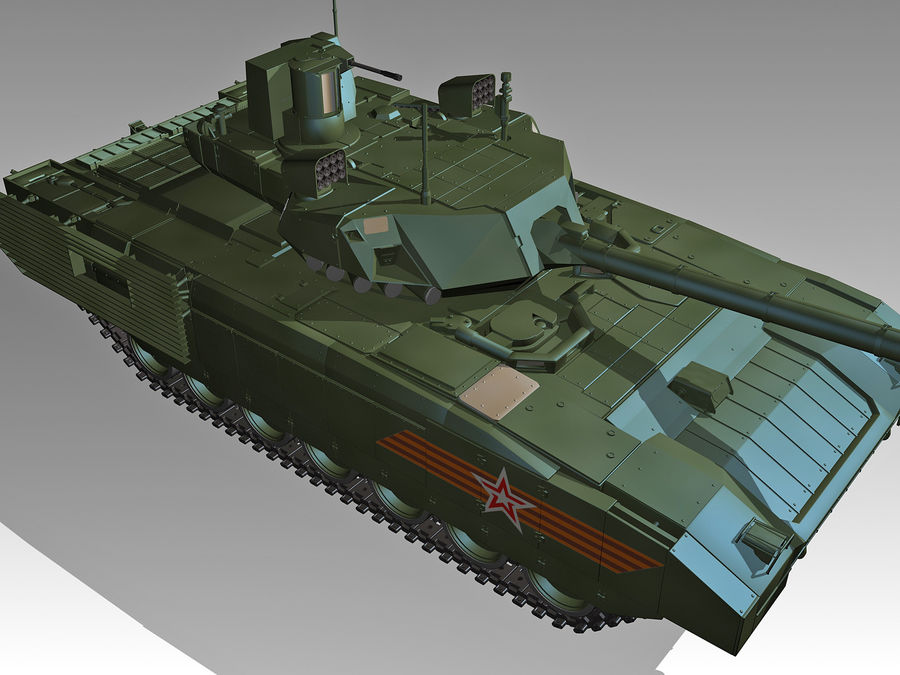 T-14 ARMATA royalty-free 3d model - Preview no. 3