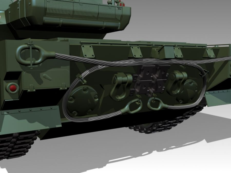 T-14 ARMATA royalty-free 3d model - Preview no. 6