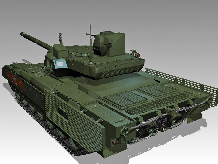 T-14 ARMATA royalty-free 3d model - Preview no. 4