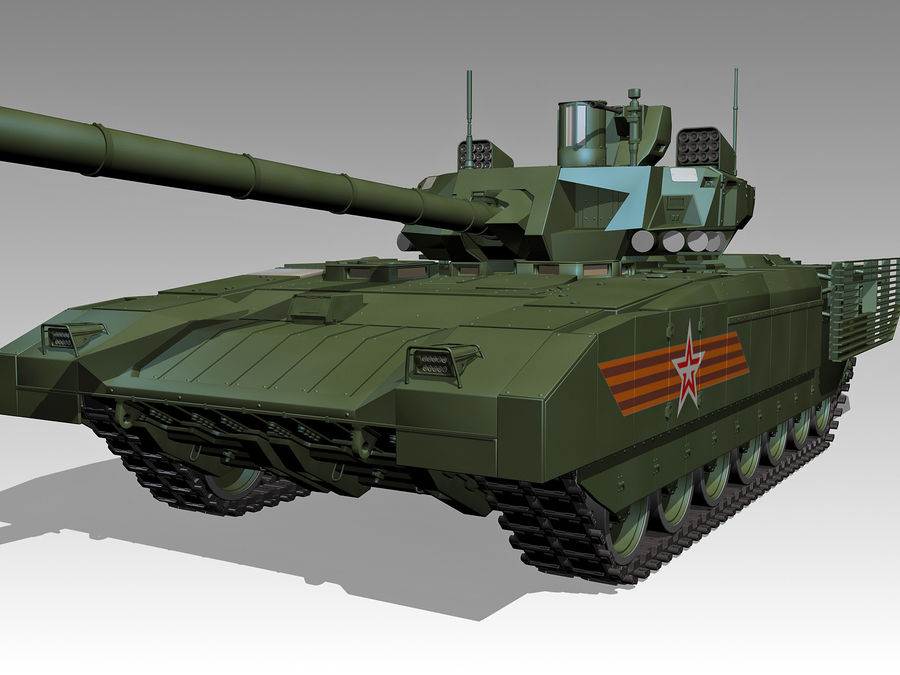 T-14 ARMATA royalty-free 3d model - Preview no. 2