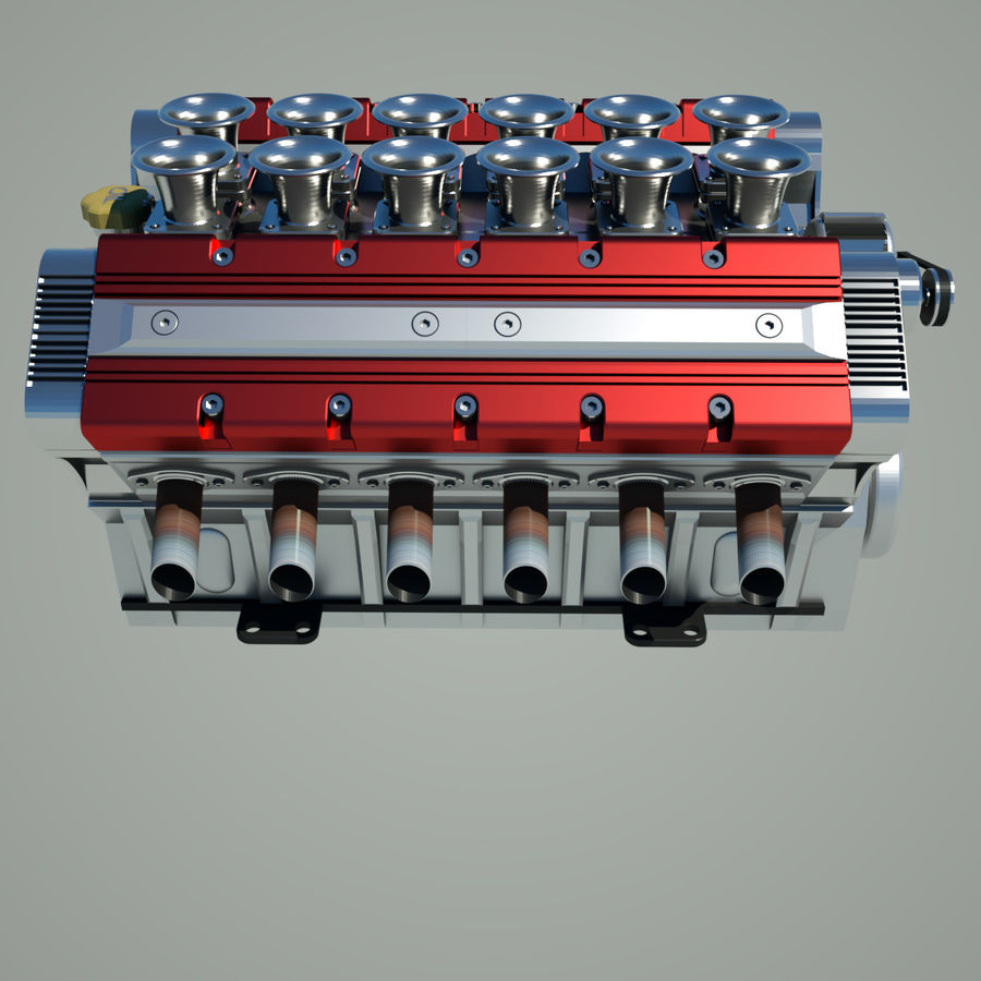 V12 Engine royalty-free 3d model - Preview no. 9