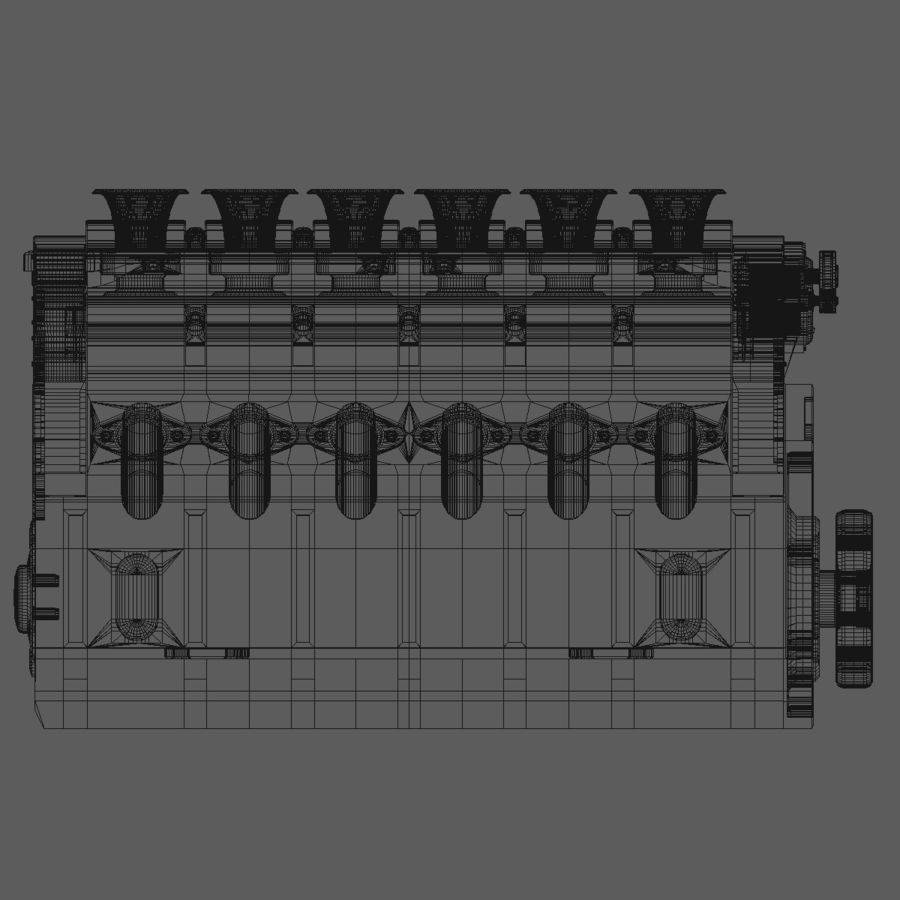 V12 Engine royalty-free 3d model - Preview no. 13