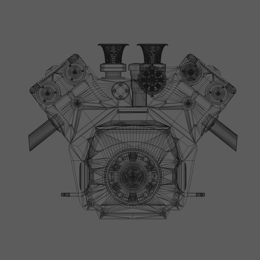 V12 Engine royalty-free 3d model - Preview no. 14