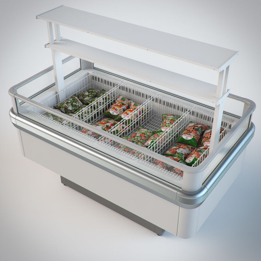 Store fridge island set royalty-free 3d model - Preview no. 3