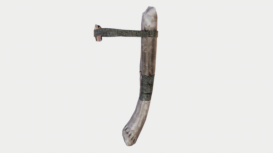 Slingshot low poly royalty-free 3d model - Preview no. 4